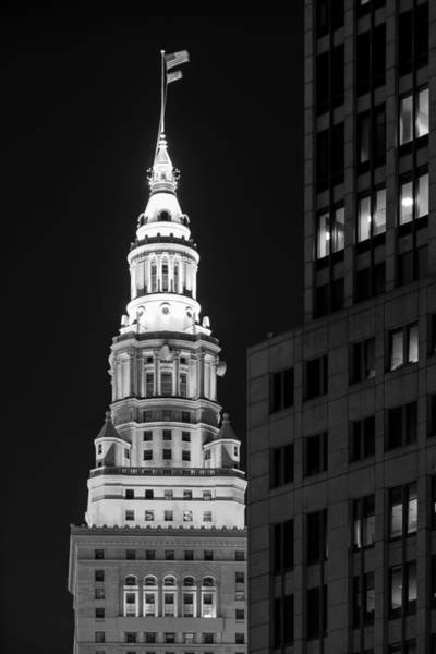 Terminal Tower In Black And White  Poster