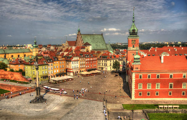 Terrific Warsaw - The Castle And Old Town View Poster