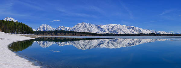 Teton End Of Winter Reflections Poster