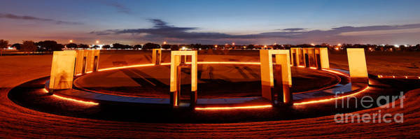 Texas A And M Bonfire Memorial At Dawn - College Station Texa Poster
