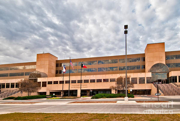 Poster featuring the photograph Texas Tech Health Science Center by Mae Wertz