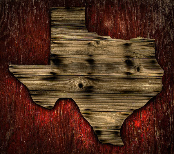 Texas Wood Poster