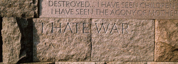 Text Engraved On Stones At A Memorial Poster