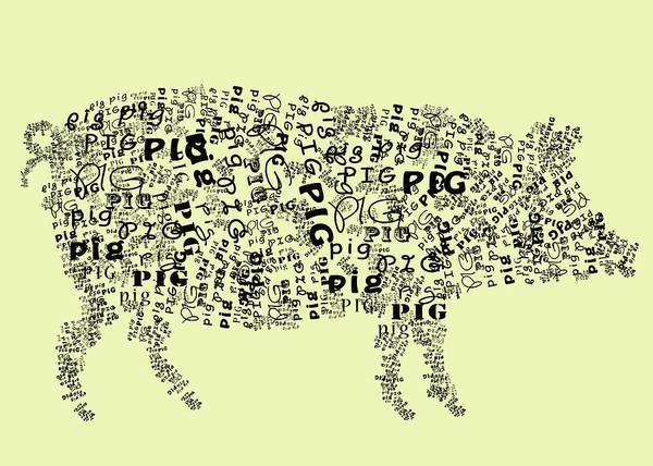 Text Pig Poster