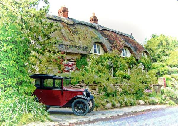 Thatched Cottages At Reybridge Poster