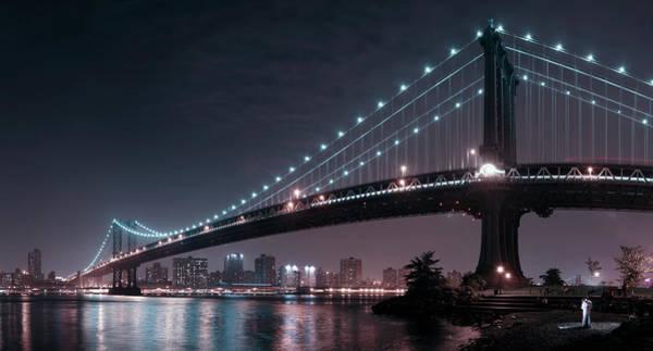 The 2 Lovers Under Manhattan Bridge Poster