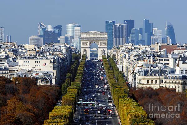 The Arc De Triomphe Paris France Poster