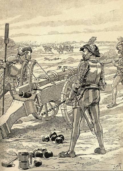 The Battle Of Marignano, 1515.  From Agenda Buvard Du Bon Marche Published 1917 Poster