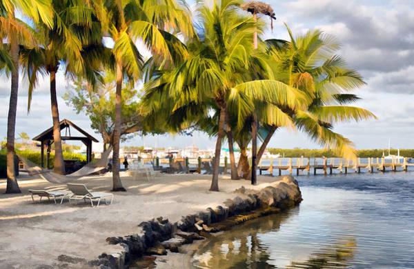 The Beach At Coconut Palm Inn Poster