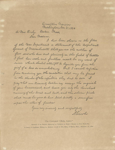 The Bixby Letter Poster