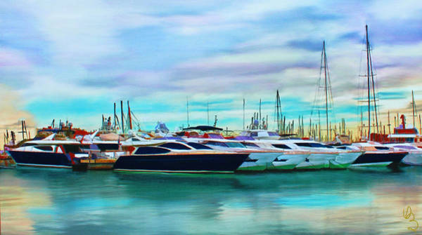 The Boats Of Malaga Spain Poster