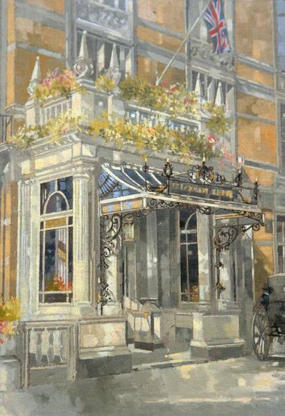 The Connaught Hotel, London Oil On Canvas Poster