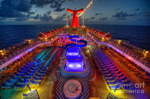 The Cruise Lights At Night Poster
