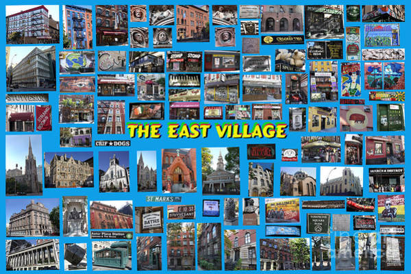 The East Village Collage Poster