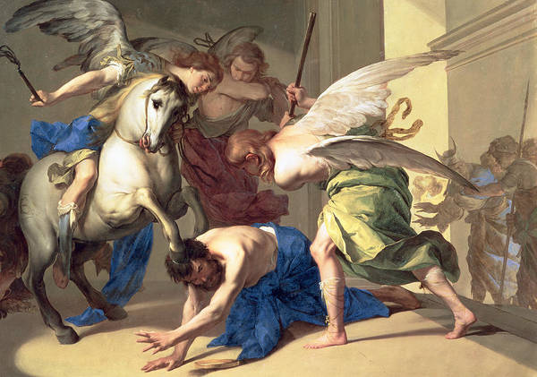The Expulsion Of Heliodorus From The Temple Poster