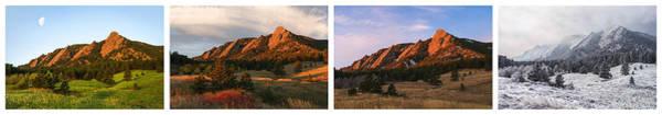 The Flatirons - Four Seasons Panorama Poster