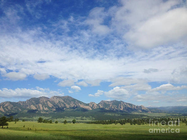 Poster featuring the photograph The Flatirons In Spring by Kate Avery