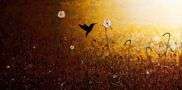 The Flight Of A Hummingbird Poster