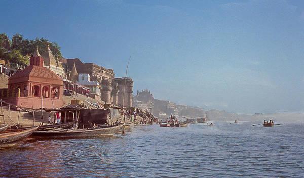 The Ganges River At Varanasi Poster
