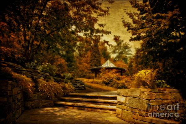 The Gazebo In Autumn Poster