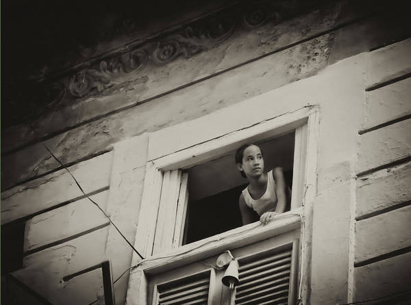 Poster featuring the photograph The Girl In The Window by Gigi Ebert