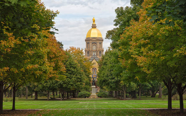 The Golden Dome Of Notre Dame Poster