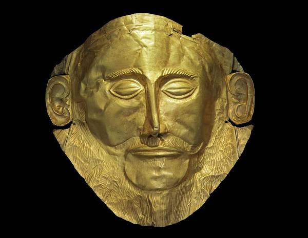 The Golden Mask Of Aggamemnon. Poster