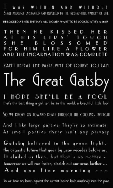 The Great Gatsby Quotes Poster
