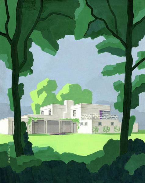 The Ideal House In House And Gardens Poster