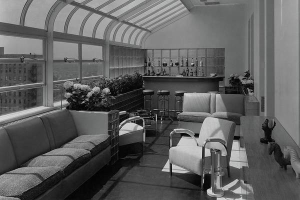 The Interior Of A Rooftop Terrace Poster