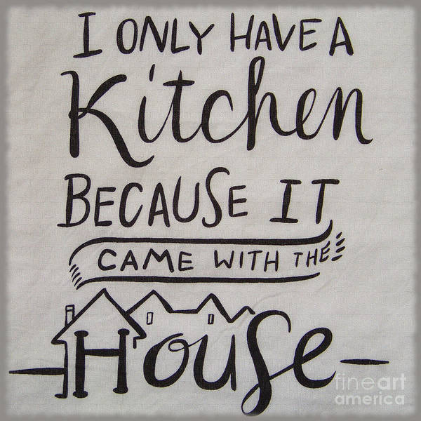 The Kitchen Came With The House Poster