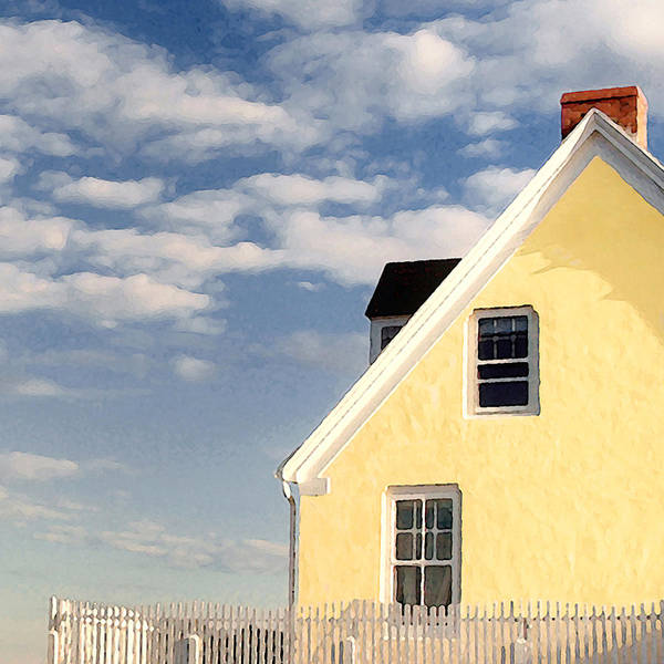 The Little Yellow House At The Seawall Poster