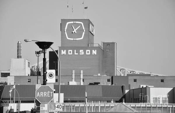 The Molson Clock Montreal Poster