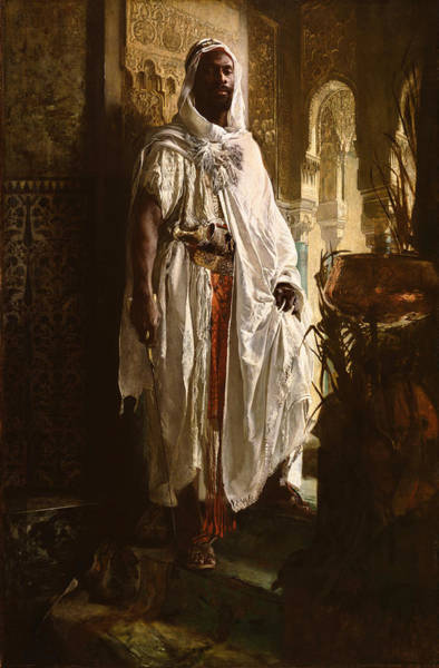 Poster featuring the painting The Moorish Chief by Eduard Charlemont