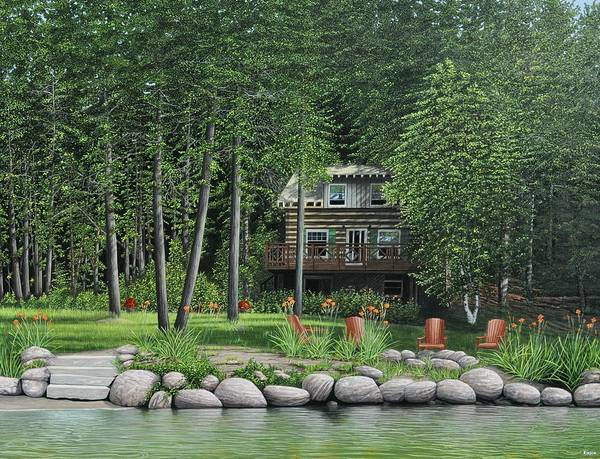 The Old Lawg Caybun On Lake Joe Poster