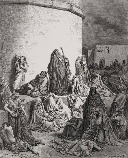 The People Mourning Over The Ruins Of Jerusalem Poster