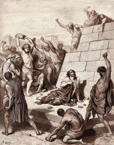 The Stoning Of Saint Stephen, By Gustave Dore Poster