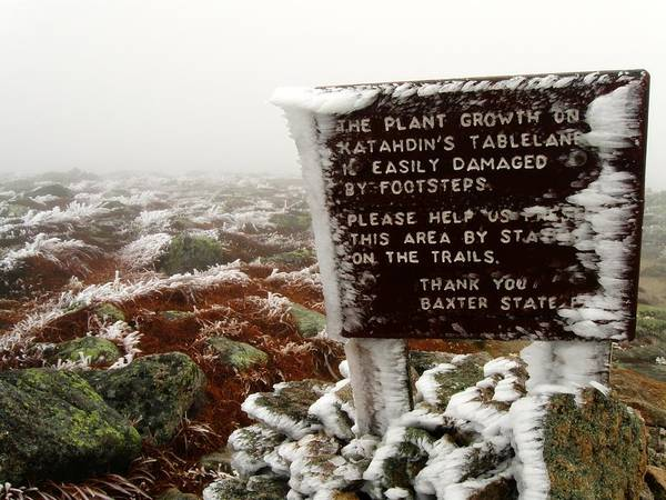The Tablelands - Mt. Katahdin, Maine Poster