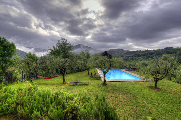 The Tuscan Villa Pool Poster