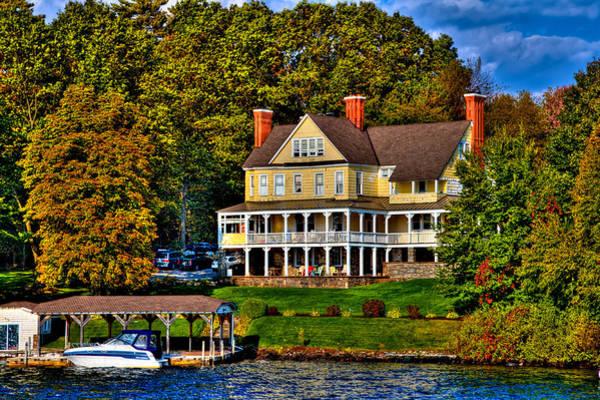 The Villa Nirvana Mansion On Lake George Poster