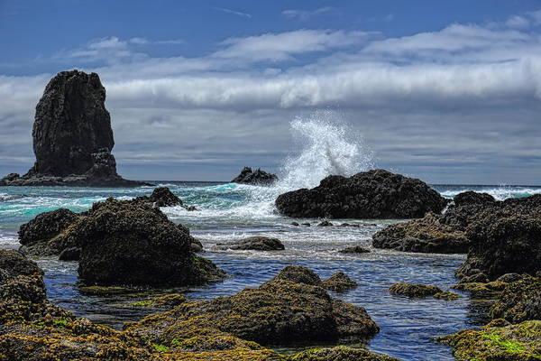 The Waves At Haystack Rock Poster