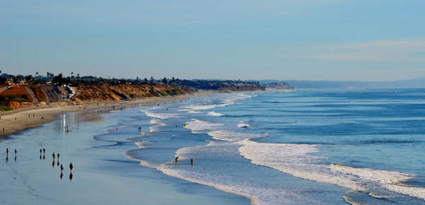 The Waves In Carlsbad Beach California  Poster