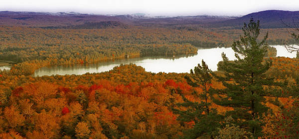 Third Lake From Bald Mountain - Old Forge New York Poster