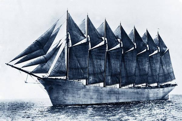 Thomas W. Lawson Seven-masted Schooner 1902 Poster