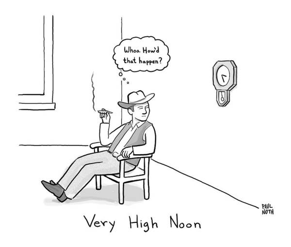 Title: Very High Noon. A Cowboy Looking Poster