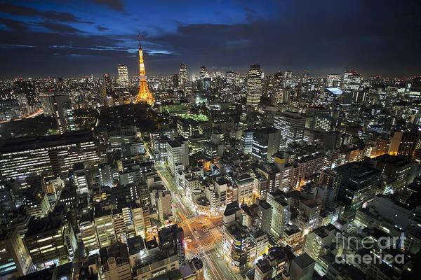 Tokyo Tower At Night Poster