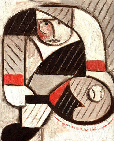Tommervik Abstract Tennis Art Player Poster