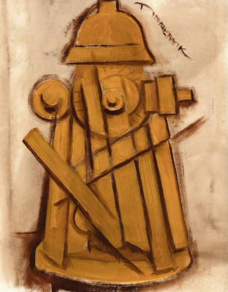 Abstract Fire Hydrant Art Print Poster