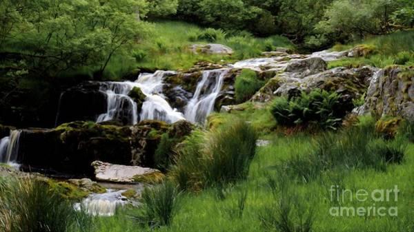 Top Falls Of Pistyll Rhaeadr Waterfalls Poster