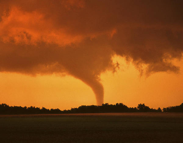 Tornado Sunset 11 X 14 Crop Poster